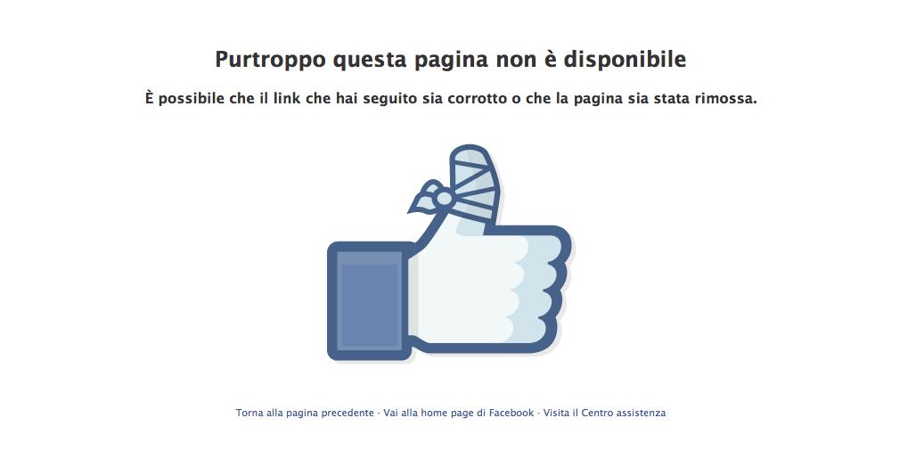 pollice bendato facebook