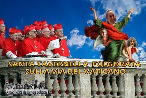 PAOLA TAVERNA FOLGORATA SULLA VIA DLLE MURA VATICANE
